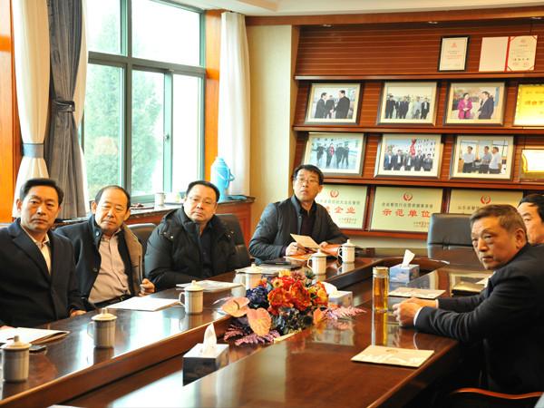 烟台市副市长李朝晖一行春节前来蓝白食品慰问指导